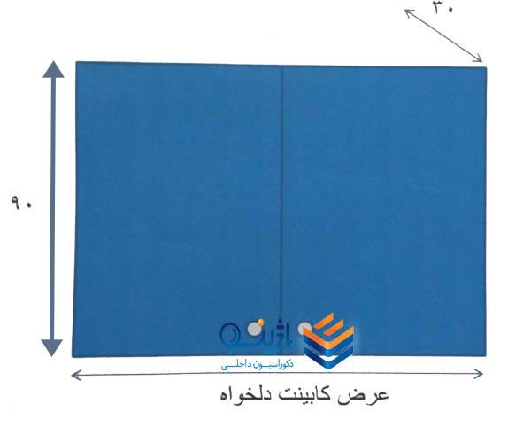 اندازه کابینت دیواری