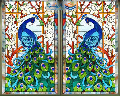 شیشه مشجر ( طرح دار)