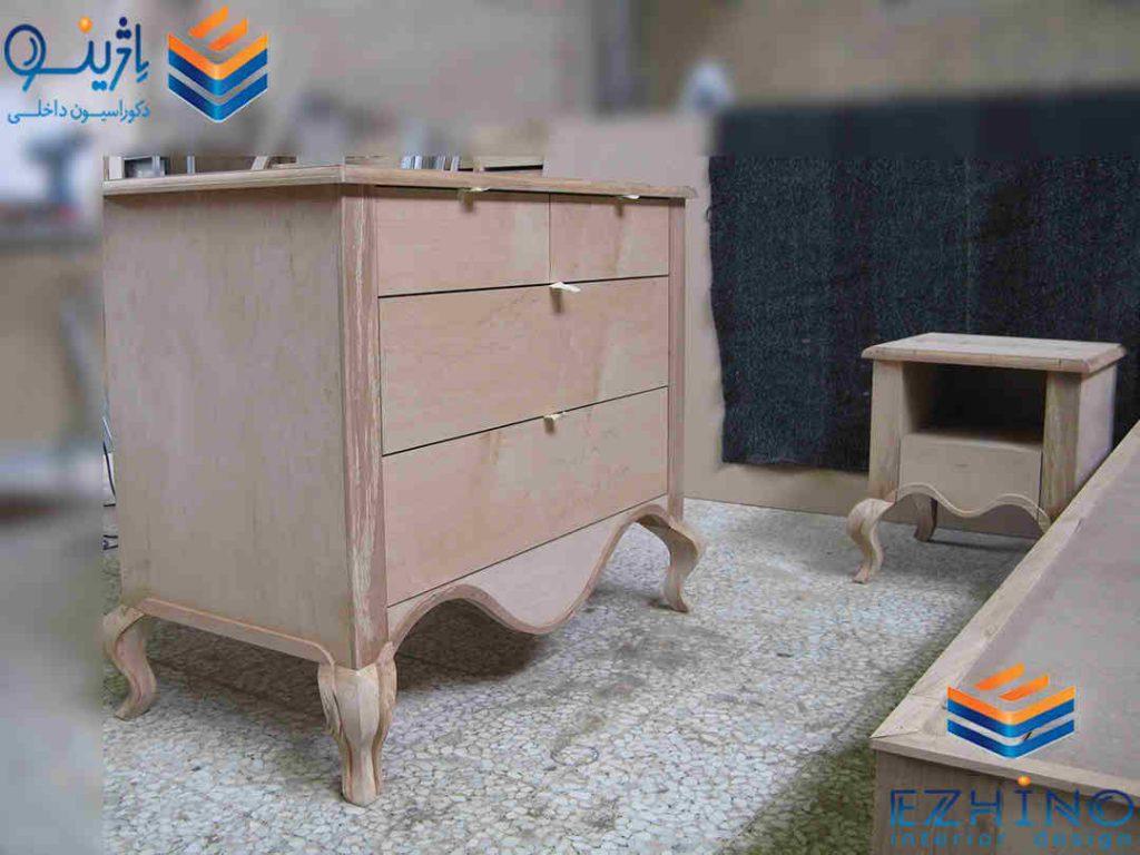 میز دراور چوبی
